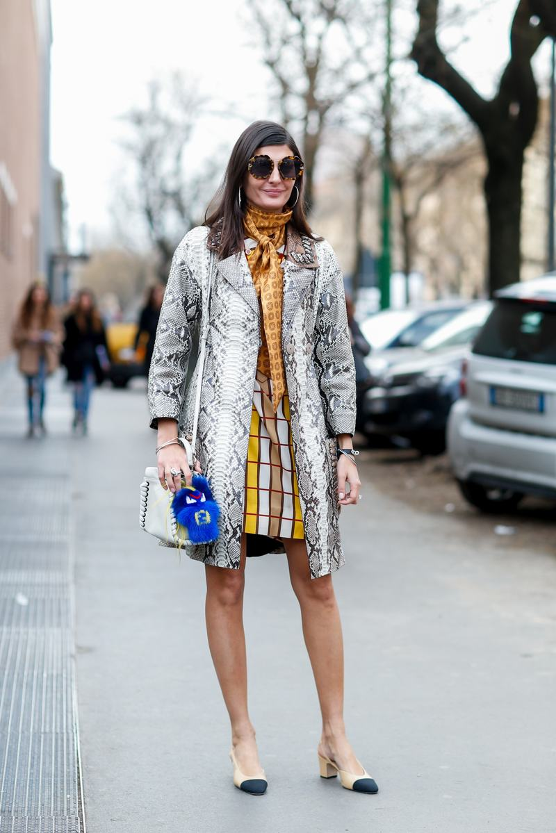 Street style, Giovanna Battaglia arriving at Fendi Fall-Winter 2016-2017 show held at Via Solari, in Milan, Italy, on February 25th, 2016. Photo by Marie-Paola Bertrand-Hillion/ABACAPRESS.COM