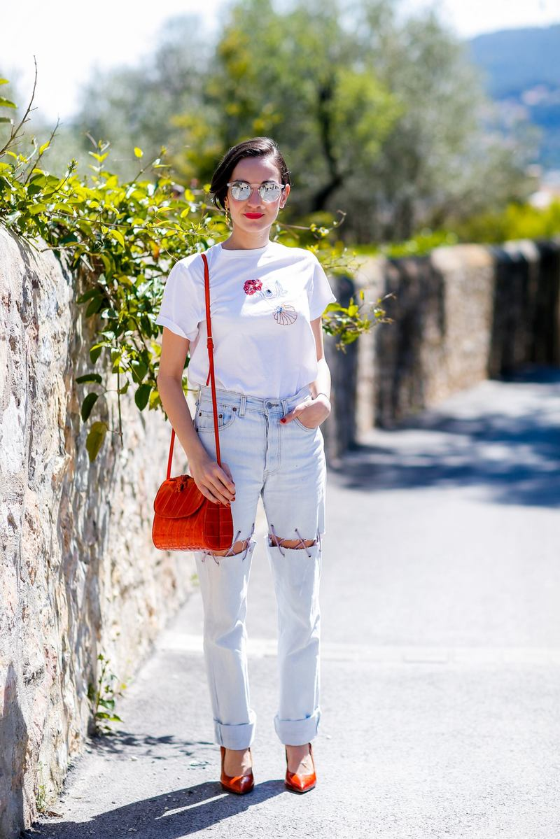 Street style, Charlotte Cargnello at 31st International festival of Fashion and Photography (31e Festival International de Mode et de Photographie de Hyeres) held at Villa Noailles, in Hyeres, France, on April 24th, 2016. Photo by Marie-Paola Bertrand-Hillion/ABACAPRESS.COM