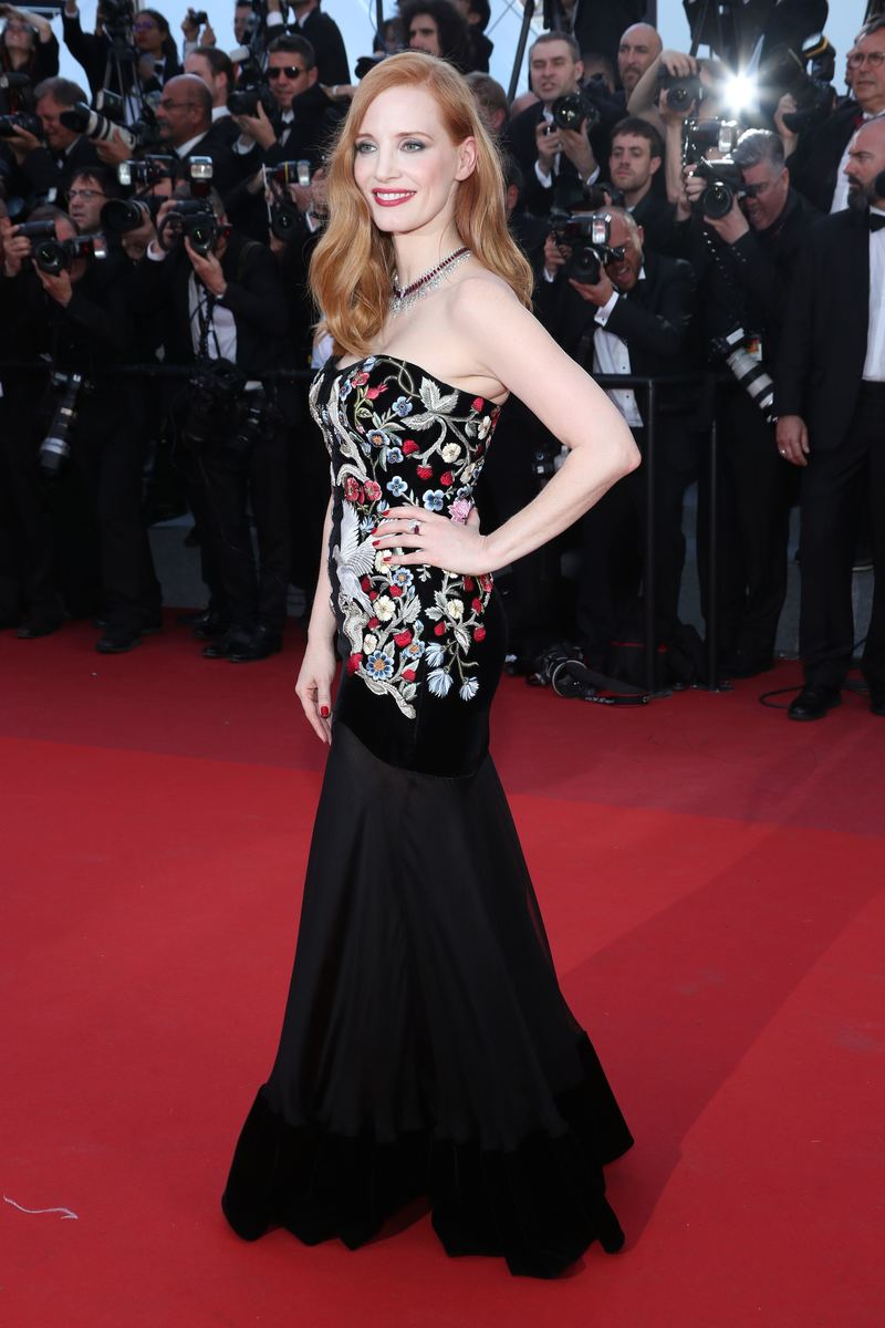 Mandatory Credit: Photo by Matt Baron/BEI/Shutterstock (8823020ce) Jessica Chastain 'Ismael's Ghosts' premiere and opening ceremony, 70th Cannes Film Festival, France - 17 May 2017