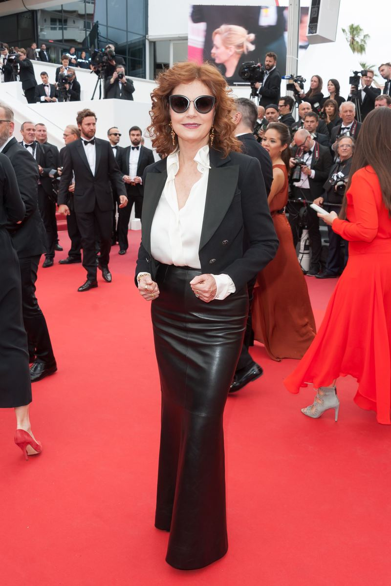 Susan Sarandon arriving on the red carpet of Nelyubov screening held at the Palais Des Festivals in Cannes, France on May 18, 2017 as part of the 70th Cannes Film Festival. Photo by Nicolas Genin/ABACAPRESS.COM