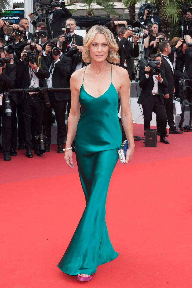Robin Wright arriving on the red carpet of Nelyubov screening held at the Palais Des Festivals in Cannes, France on May 18, 2017 as part of the 70th Cannes Film Festival. Photo by Nicolas Genin/ABACAPRESS.COM
