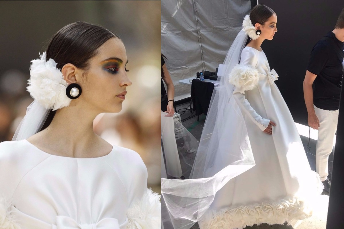 Chanel Bride ponytail