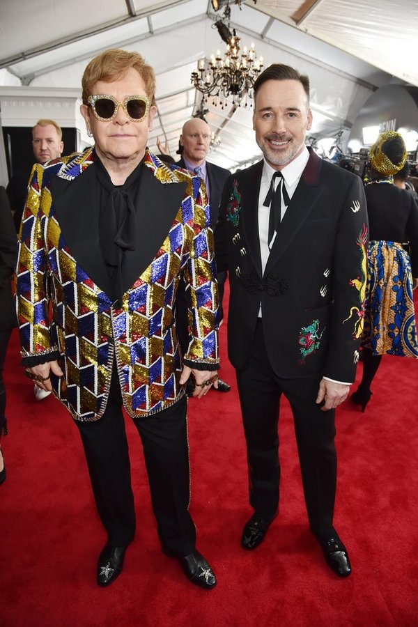 Elton John David Furnish Grammy Awards 2018