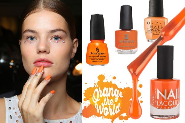 cover orange nails