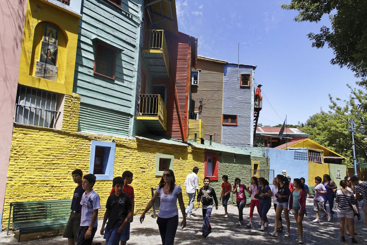 Colorful Houses in Caminito, La Boca, Buenos Aires, Argentina. Credit: ImageStockArt/face to face
