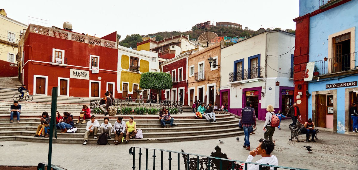 Plaza de los Angeles in Guanajuato, a UNESCO World Heritage Site, Guanajuato State, Mexico, North America