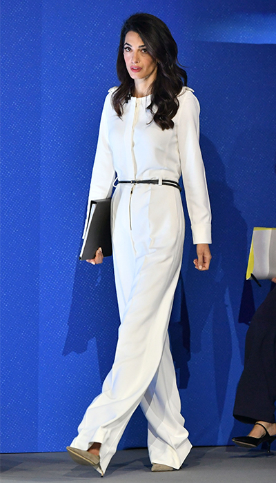 amal clooney all white