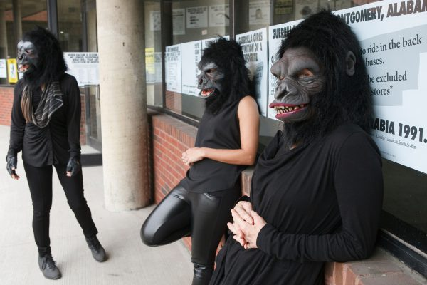 Guerrilla Girls at the Abrons Art Center, 2015. Photo © Andrew Hinderaker