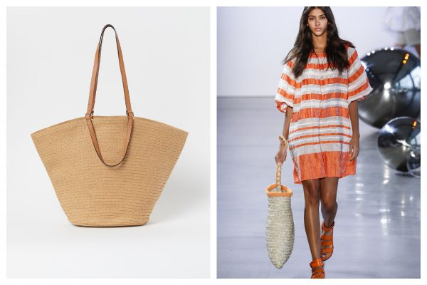 Genți în tendințe- Shopper bags din paie, pe stradă sau la plajă