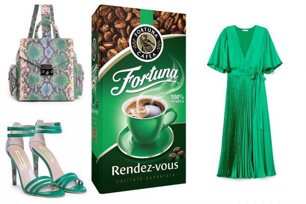 Rucsac și sandale The 5th Element, Cafea Fortuna Rendez-vous, Rochie H&M