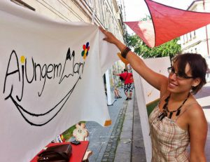 Lansarea Ajungem MARI la Street Delivery 2014 – primul banner pictat