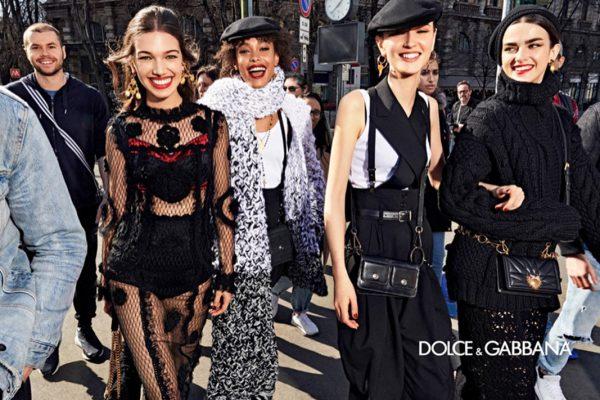 La campagne Automne Hiver de Dolce & Gabbana avec un mini défilé dans les rues de Milan