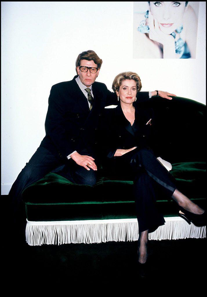 Catherine Deneuve și Yves Saint Laurent