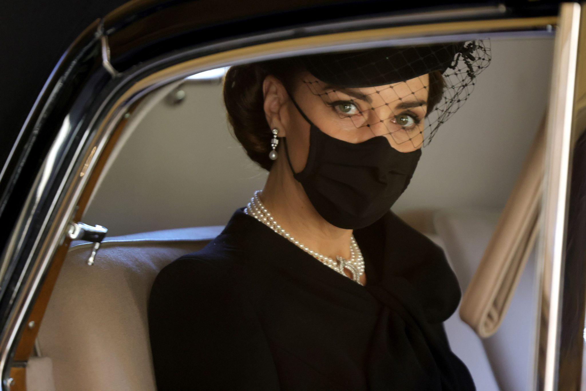 Kate Middleton, impecabilă la înmormântarea Prințului Philip