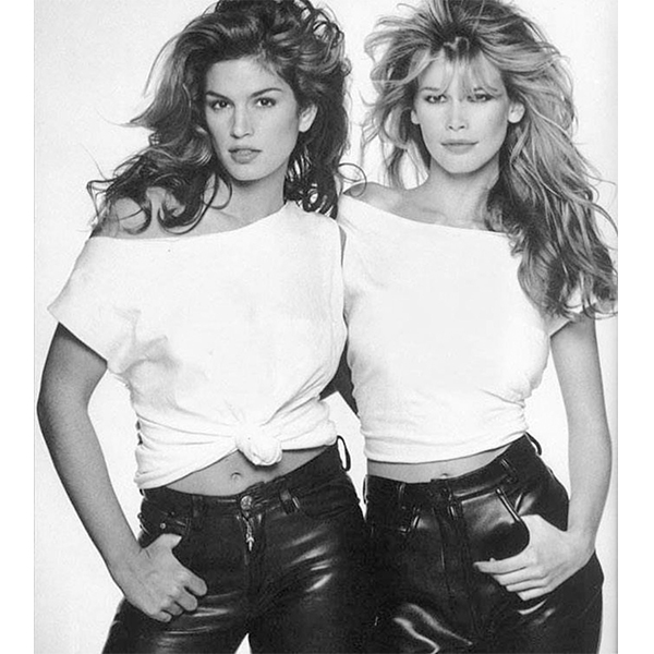 Cindy Crawford și Claudia Schiffer