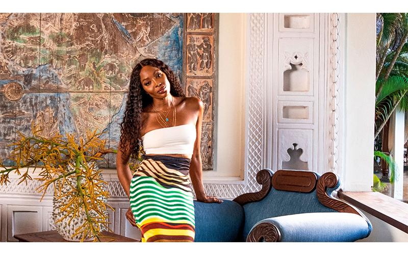 Naomi Campbell în Malindi. Kenya (Foto Architectural Digest)