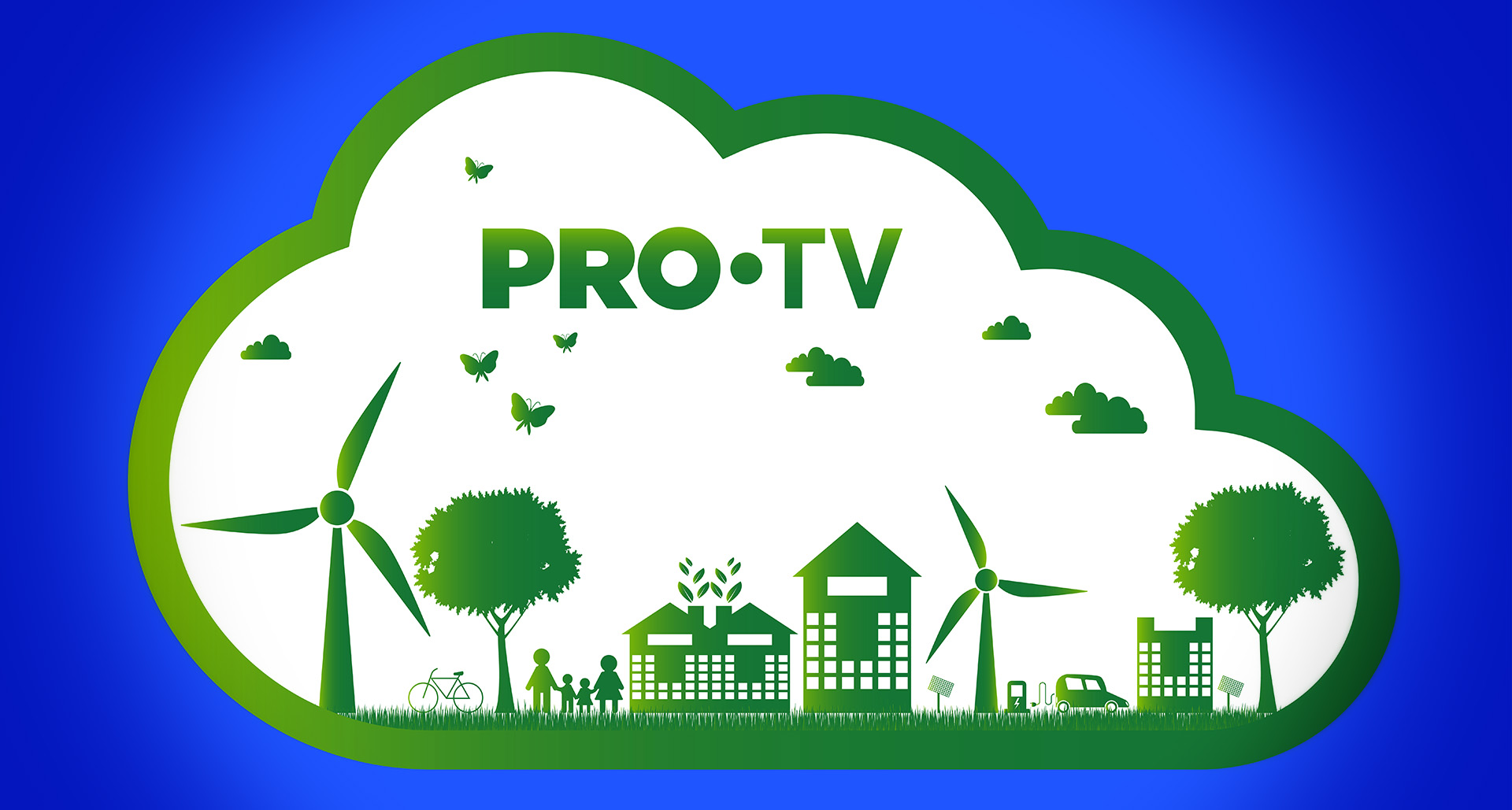 ecology concept.Green cities help the world with eco-friendly co
