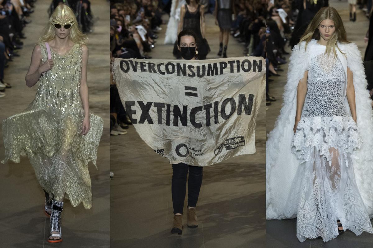 Protest neregizat pe podiumul Louis Vuitton